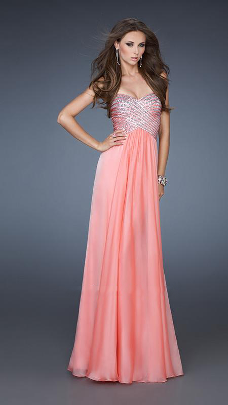 Hot-or-Not Trends: Long Dresses – Campus Socialite Salmon Prom Dresses 2013