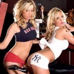 hot girls in yankees and red sox